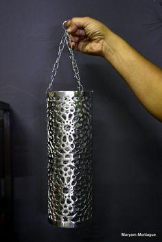 Modern Moroccan lantern for sale in the Marrakech souks.