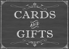 cards & gift table sign