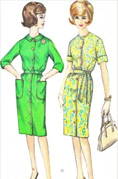 3a1fe299bfb Items similar to Dress Pattern Simplicity 4559 Front Button Slim Skirt  Shirtdress Plus Size Womens Vintage Sewing Pattern Bust 39 on Etsy