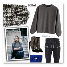 """""""gret sweater"""" by marcelapais ❤ liked on Polyvore featuring Giuseppe Zanotti, Giambattista Valli and Unravel"""