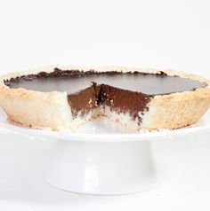 Coconut Chocolate Pie #glutenfree #grainfree #paleo