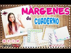 MÁRGENES para CUADERNOS y bordes para CARTAS. Ideas para decorar cuadernos y apuntes - YouTube