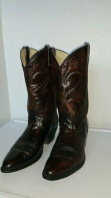 Vintage Distressed Mens' Size 9 D Dingo Burgandy Western Cowboy Boots