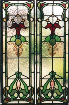 Art Noveau  It looks like stained glass windows, but I'm not positive.