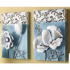 3-d art for calm blue/ brown room.