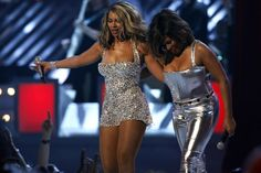 February 2008: At the 50th Annual Grammy Awards, Beyoncé performed with legend Tina Turner. So much sparkly silver, so little time.