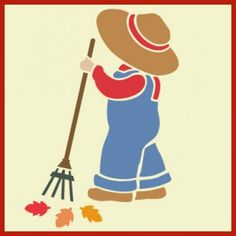 """Overall Sam 3 Stencil - Part of our """"Sunbonnet Sue"""" & """"Overall Sam"""" Collection 