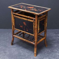English Bamboo Fold-Out Occasional Table | From a unique collection of antique and modern tables at https://www.1stdibs.com/furniture/tables/tables/
