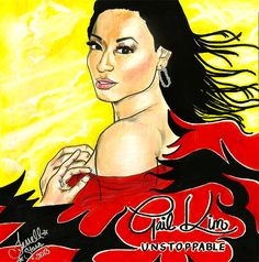 Subject: WWE & TNA Wrestler Gail Kim Medium(s): Charcoals, Pastels, Sharpies, Silver Autograph Pen and Colored Markers Artist: Me (TerrellStars) Date Completed: June 8, 2013 Gail Kim commented on this the same day via twitter!