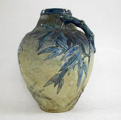 Edmond Lachenal (1855-1930). Vase. Glazed Stoneware. Circa 1894. Les Arts Décoratifs. Paris, France.