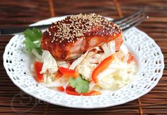 Grilled Salmon with Spicy Korean Chile Pepper Sauce