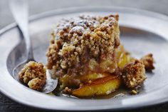 This version of the crumble features Tiptree's Salted Caramel Spread and has plenty of savory flavors combined with apples. It's a great autumn or fall dessert dish. The process for this crumble is relatively easy. Desserts To Make, Apple Desserts, Köstliche Desserts, Delicious Desserts, Dessert Recipes, Apple Crumble Recipe, Apple Crisp Recipes, Apple Pie, Apple Slices