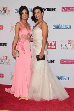 Alisa and Lysandra Wearing Liza Emanuele at the 2014 TV Week Logie Awards