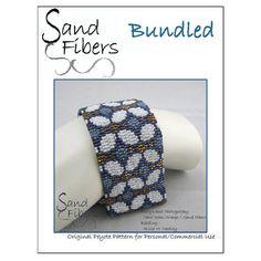 Peyote Pattern - Bundled Peyote Cuff / Bracelet  - A Sand Fibers For Personal/Commercial Use PDF Pattern