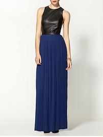 don't usually go for maxi dresses, but love the leather top in this!