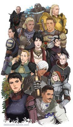 Characters of Dragon Age by dakkun39