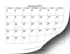 2017 Calendar (12 pages) Calendar