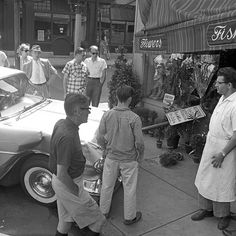 august 1958  boston, mass    car accident on beacon hill    part of an archival project, featuring the photographs of nick dewolf