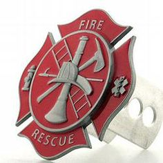 Firefighter hitch cover. stocking stuffer for charlie!