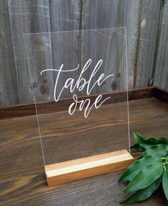 Acrylic Wedding Table Numbers. Lucite Event Table Decor. Hand-Lettered Numbers. Table Decoration. Wedding Signage. by FoxAndHart on Etsy