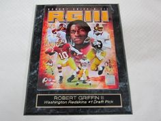 """Robert Griffin III Washington Redskins Collector Plaque w/8x10 Mutli Action Photo by J & C Baseball Clubhouse. $19.99. This collectors plaque measures 10 1/2""""x13"""" and includes a fully licensed 8""""x10"""" photo that IS REMOVEABLE. A GREAT ITEM for any sports fan!"""