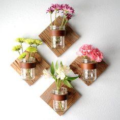 mason jar floreros