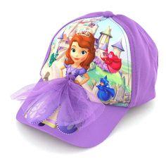 Disney Junior Sofia the First Princess Girls Baseball Cap Hat SOS42009ST O/S #DisneyJunior #BaseballCap