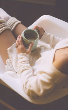 Nothing says lazy Sunday like curling up in my Bisou Bisou side-zip sweater with a hot cup of cocoa.