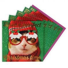 Purrfect charity Christmas cards - pack of 8
