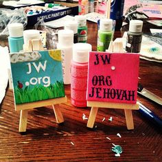 My little sister and I got creative and made our own versions of the jw.org sign for our family worship night! We had a blast doing crafts that praise Jehovah's name!""
