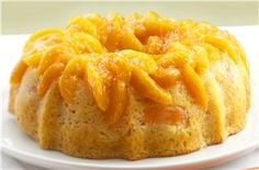 """Seconds Please"" Peach Cake. Lucky Leaf Pie Filling recipes curated by SavingStar Grocery Coupons. Save money on your groceries at SavingStar.com"