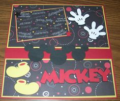mickey layout with cricut