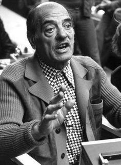Luis Buñuel on the set of Le Charme discret de la bourgeoisie