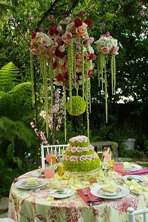 pink and green wedding table - of course substitute with different colors to own your wedding! www.destinationweddings.travel