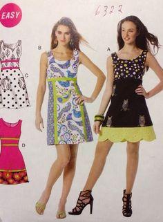 UNCUT PLUS SIZE McCalls M6322 Misses A-Line Midi Dress Sizes (14-16-18-20-22)