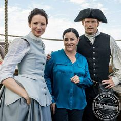 Claire, Diana, and Sam Outlander News, Outlander Season 3, Serie Outlander, Claire Fraser, Jamie Fraser, Tartan, Outlander Characters, Diana Gabaldon Outlander, Samheughan