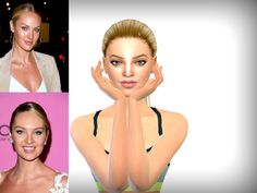 This is my version of Victoria's Secret Model Candice Swanepoel as requested by a fellow simmer :) Hope you guys like her.  Found in TSR Category 'Sims 4 Young Adult Female Sims'