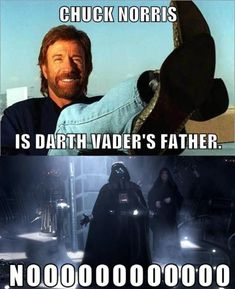 Browse the best of our 'Chuck Norris Facts' image gallery and vote for your favorite! Chuck Norris Memes, Darth Vader Father, English Jokes, Pop Culture References, Tough Guy, Star Wars Humor, Funny Games, I Laughed, Funny Pictures