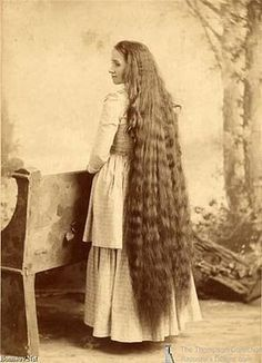 My Aunt had hair this long and it was always getting caught in things.