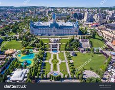 Photo about Iasi, Romania city centre and public garden as seen from above. Image of centre, seen, palace - 96807448 Beautiful Places In The World, Most Beautiful Cities, Public Garden, Amazing Destinations, Park City, Trip Planning, Paris Skyline, City Photo, Tourism