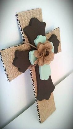 Burlap cross I love these!!