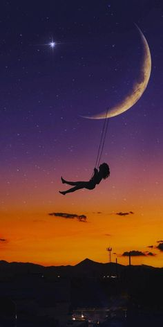 Silhouette Photography, Silhouette Art, Galaxy Wallpaper, Wallpaper Backgrounds, Iphone Wallpaper, Beautiful Moon, Jolie Photo, Pretty Wallpapers, Anime Scenery