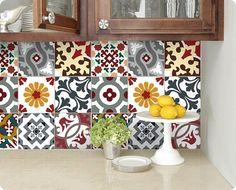 Cuisine salle de bains carrelage stickers vinyle autocollant : Barcelone Patchwork Bmix5