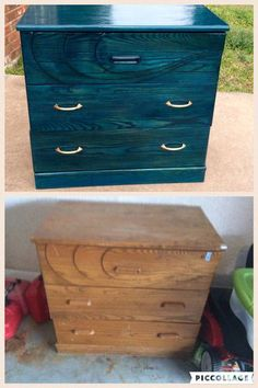 Before & after with Unicorn Spit mx. Funky Furniture, Refurbished Furniture, Paint Furniture, Repurposed Furniture, Furniture Projects, Furniture Makeover, Upcycled Furniture Before And After, Furniture Websites, Furniture Movers