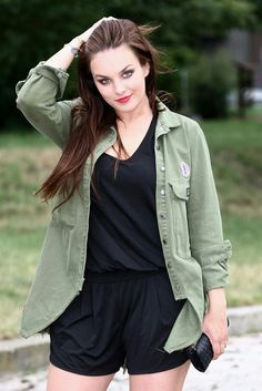 August 12, Plus Size Fashion, Military Jacket, Polish, Singer, Bikini, Elegant, Jackets, Outfits