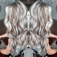 Love Hair, Gorgeous Hair, Pelo Color Plata, Hair Highlights And Lowlights, Grey White Hair, Blonde Hair Looks, Hair Color And Cut, Hair Photo, Fall Hair