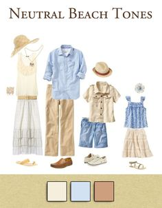 Family Outfits: Neutral Beach Tones