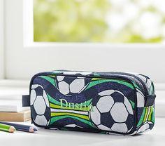 Mackenzie Navy Soccer Pencil Case #adventurebegins
