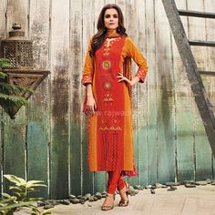 Printed Traditional Cotton Churidar Suit #rajwadi #embroidery #dress #ethnic #FeelRoyal #traditional #indowestern