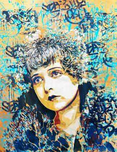 Pionnière du pochoir en Espagne, la street artistespagnoleBTOYs'empare depuis plus de quinze ans des murs du monde entier avec de magnifiques portraits d